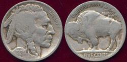 Us Coins - 1924-S BUFFALO NICKEL FINE/ GOOD-+