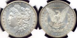 Us Coins - 1889-CC MORGAN $1 NGC MS61  WHITE