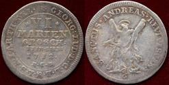 World Coins - BRUNSWICK / HANNOVER  1712 HCB   6 GROSCHEN