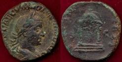 Ancient Coins - VOLUSIAN  251-253 AD  SESTERTIUS