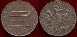 World Coins - MIDDLESEX ENGLAND  1794  SHACKELTON's LONDON