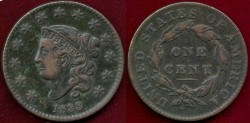 Us Coins - 1833  LARGE 1c ..... EXTRA FINE