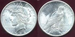 Us Coins - 1928-S PEACE DOLLAR...  MS63  BLAZING WHITE MINT LUSTER