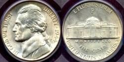 Us Coins - 1944-P 5c JEFFERSON  PCGS MS66