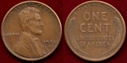 Us Coins - 1924-S LINCOLN 1c  XF45