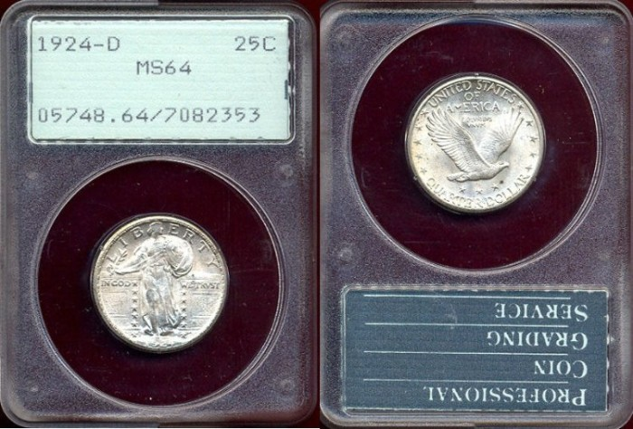 US Coins - 1924-D 25c  very CHOICE UNCIRCULATED