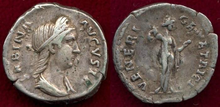 Ancient Coins - SABINA  wife of HADRIAN 117-137  AD  Denarius