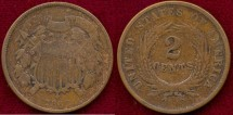 Us Coins - 1868  2c ....  VERY GOOD