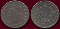 Us Coins - 1809 CLASSIC LARGE 1c  FINE