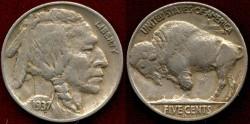 Us Coins - 1937-D  3 LEG Variety .........NGC   VF