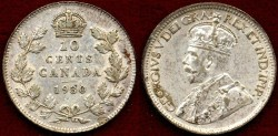 World Coins - CANADA 1930  10c .....  Choice About UNCIRCULATED