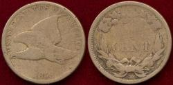 Us Coins - 1858 Small Ltrs.  FLYING EAGLE CENT  GD