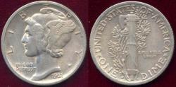 Us Coins - 1931-D MERCURY DIME VF30