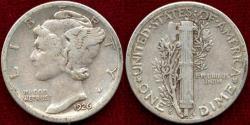 Us Coins - 1926-S MERCURY DIME  (10c)  VF25