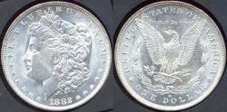 Us Coins - 1882-O MORGAN $1 MS64+   BLAST WHITE
