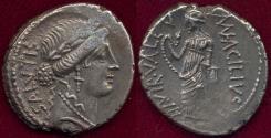 Ancient Coins - Man.Acilius Glabrio  49 BC  DENARIUS