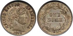 Us Coins - 1899-S BARBER 10c  AU58 .... VERY UNUSUAL MINTING ERROR