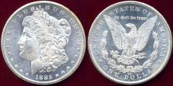 Us Coins - 1885-CC MORGAN DOLLAR MS65  WHITE