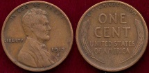 Us Coins - 1913-S LINCOLN 1c  VF30