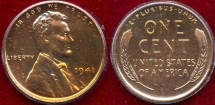 Us Coins - 1941  1c  PROOF.... nice no spots