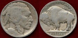 Us Coins - 1915  BUFFALO 5c ...... GOOD