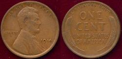 Us Coins - 1914 LINCOLN 1c XF