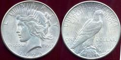 Us Coins - 1928-S PEACE DOLLAR  AU55.... very nice mint luster