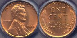 Us Coins - 1938-D LINCOLN CENT MS65RD PCGS