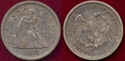 Us Coins - 1875-S TWENTY CENT AU55 .... nice original