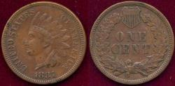 Us Coins - 1881 INDIAN 1c XF45