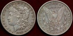 Us Coins - 1892-S  Morgan $1....  PCGS XF