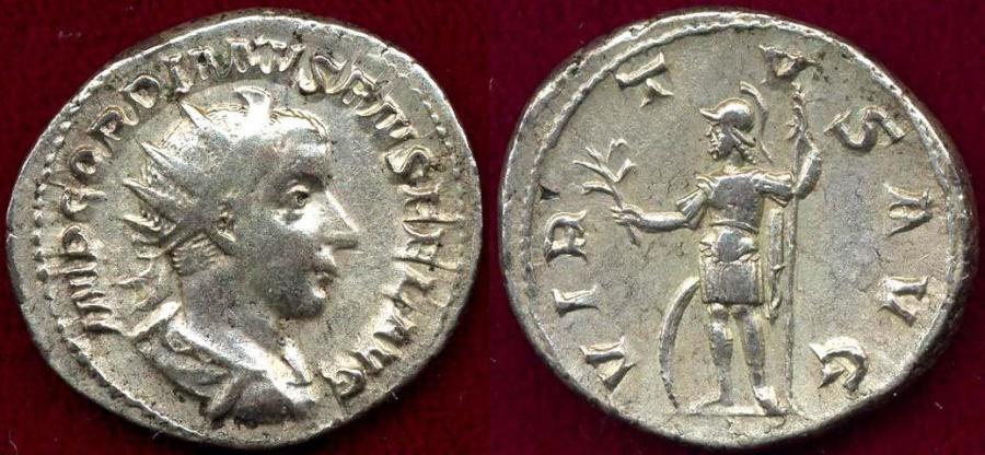 Ancient Coins - GORDIAN III 240 AD ..... RARE Antoninianus  MARS