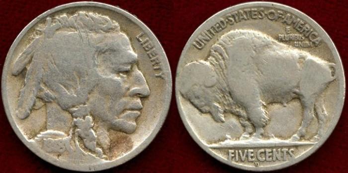 US Coins - 1918-D   Buffalo 5c....GOOD+