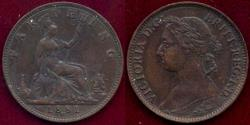 World Coins - GREAT BRITAIN 1881-H FARTHING  AU