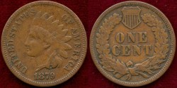 Us Coins - 1879   INDIAN  1c   EXTRA  FINE