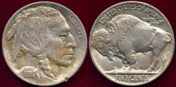 Us Coins - 1914 BUFFALO 5c  AU  ..... STRONG SHARP STRIKE!