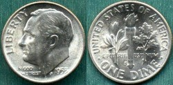 Us Coins - 1953-S 10c  CHOICE  UNCIRCULATED