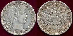 Us Coins - 1916-D BARBER 25c VF30