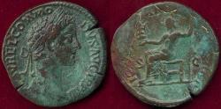 Ancient Coins - COMMODUS 177-192 AD ROME  SESTERTIUS ... JUPITER