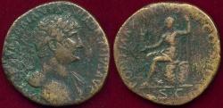 Ancient Coins - HADRIAN 119-121 AD SESTERTIUS