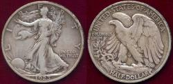 Us Coins - 1923-S WALKING LIBERTY 50c  VF35