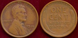 Us Coins - 1914-D 1c  VERY FINE+