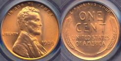 Us Coins - 1939 LINCOLN CENT MS66RD PCGS