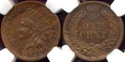Us Coins - 1866 INDIAN CENT  NGC AU58BN