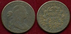 Us Coins - 1807 Large fraction  1c ...... VERY FINE