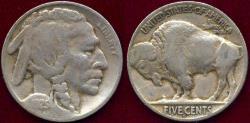 Us Coins - 1925-S BUFFALO 5c  VG  1/2 BUFFALO HORN