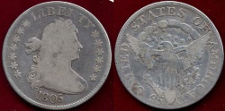 Us Coins - 1805 DRAPED BUST 25c   VG