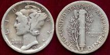 Us Coins - 1926-S MERCURY 10c  FINE