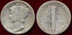 Us Coins - 1926-S MERCURY DIME   GOOD