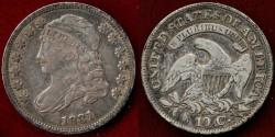 Us Coins - 1831 BUST 10c  VF+